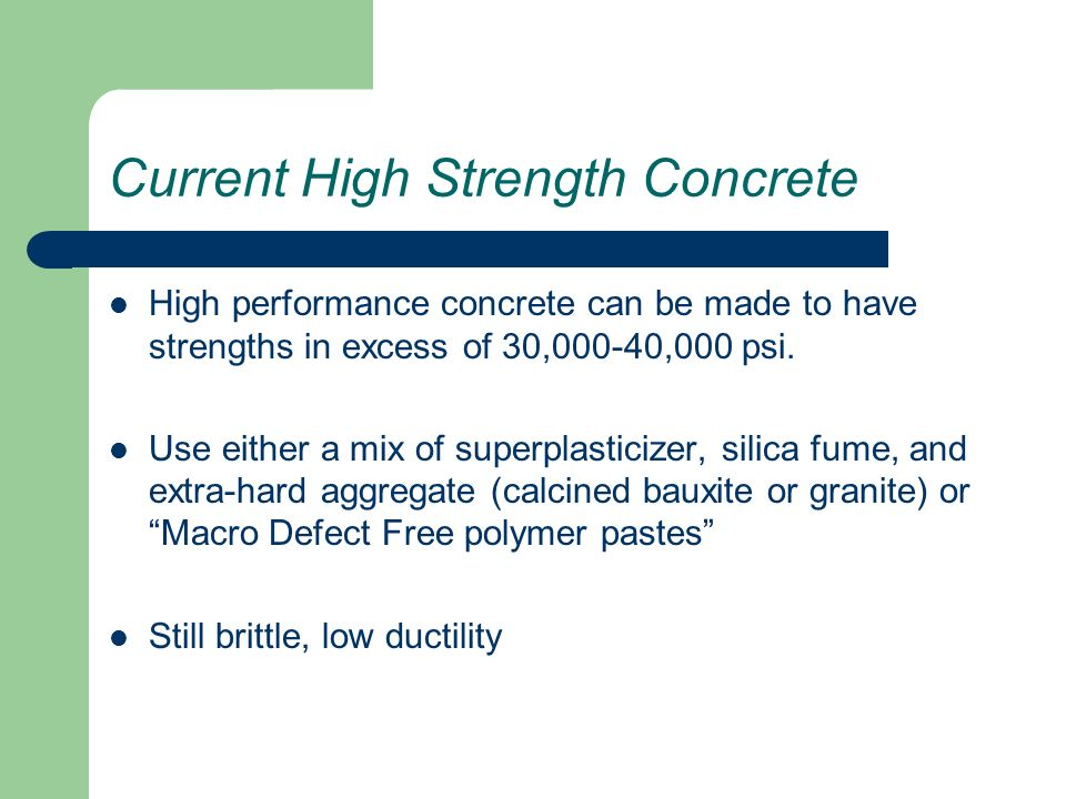 high performance concrete ppt pdf