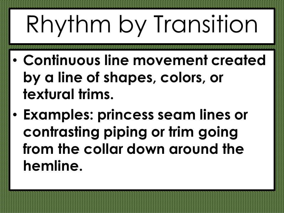 The principles of design ppt video online download for Rhythm by transition