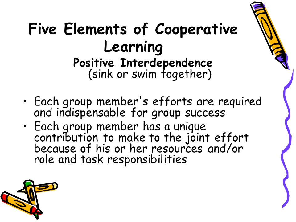 Five Elements of Cooperative Learning