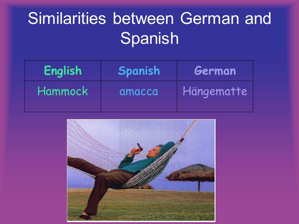 Similarities between German and Spanish