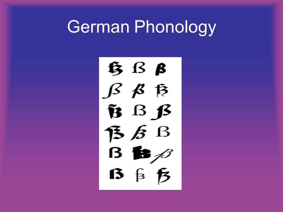 German Phonology