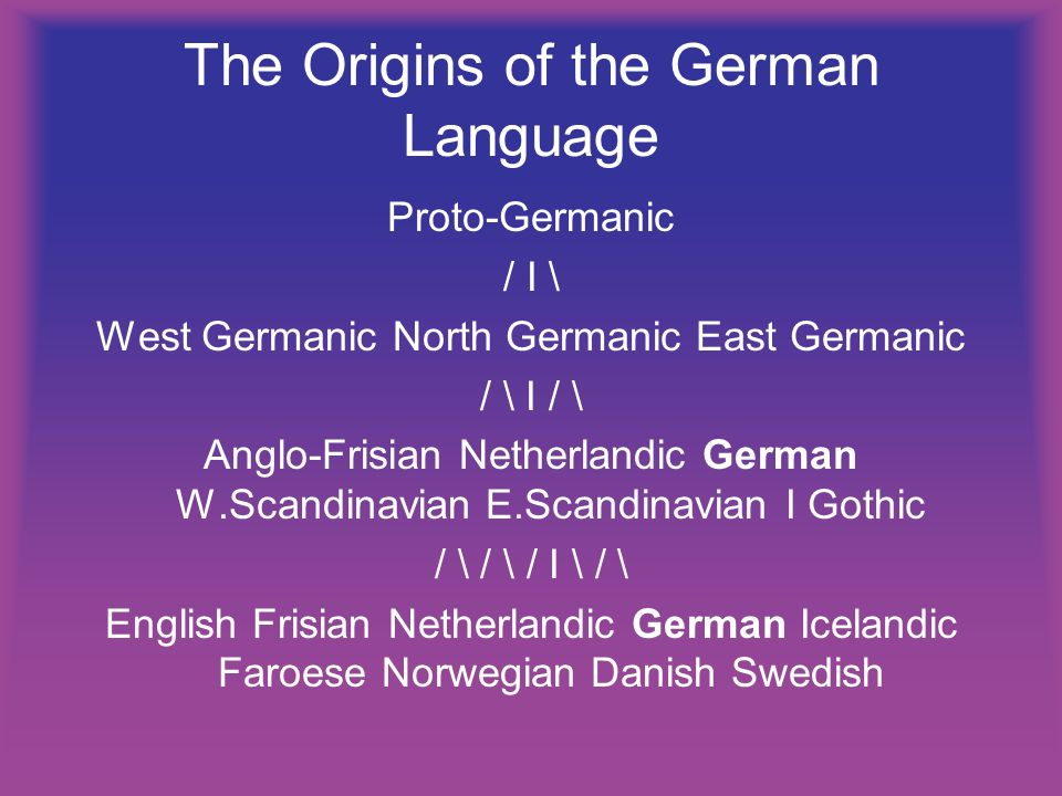 The Origins of the German Language