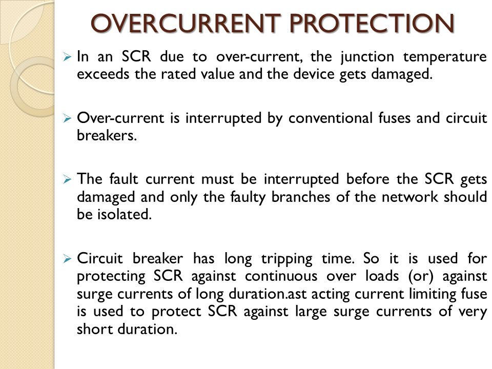 Overcurrent Protection Fuses And Circuit Breakers Ppt - Www