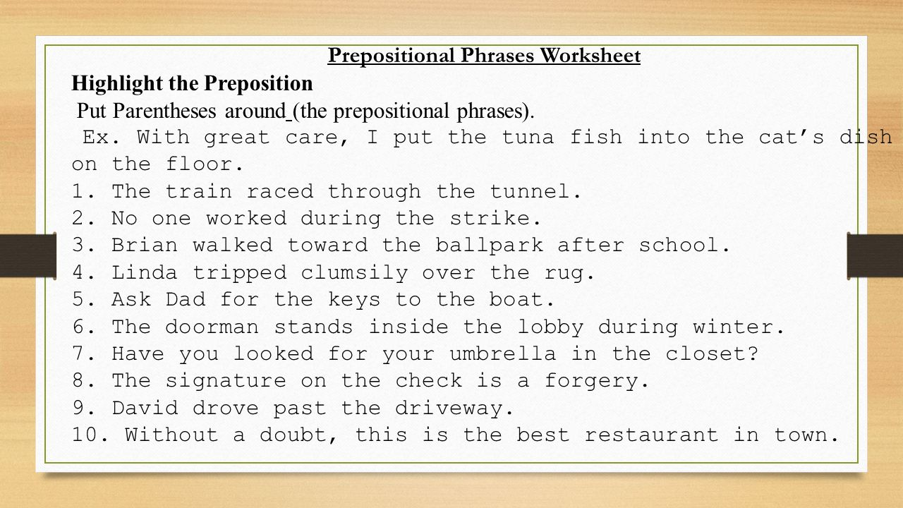worksheet Prepositional Phrases Worksheets day 3 honors prepositions and annotations ppt video online 27 prepositional phrases worksheet