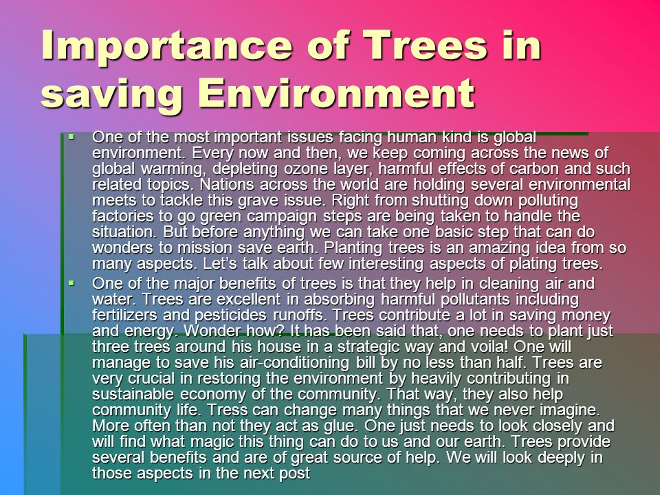 Download Ppt On Save Trees
