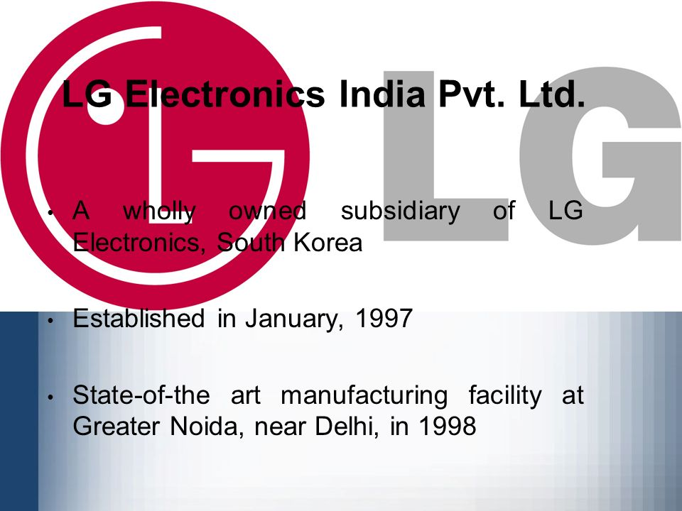 a research report on supply chain management of lg electronics