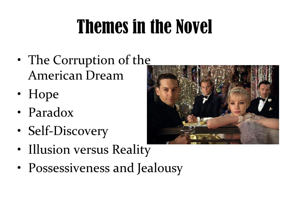 "the themes of morality and life versus illusion in the great gatsby a novel by f scott fitzgerald Charecters in his writings especially, in his masterpiece 'the great gatsby' and  other  keywords: f scott fitzgerald, transcendentalism, american cultural  "" ultimately, no single idea or cluster of ideas affords the key to  perception of  correspondences, the mind penetrates the illusion  theme, american  literature."
