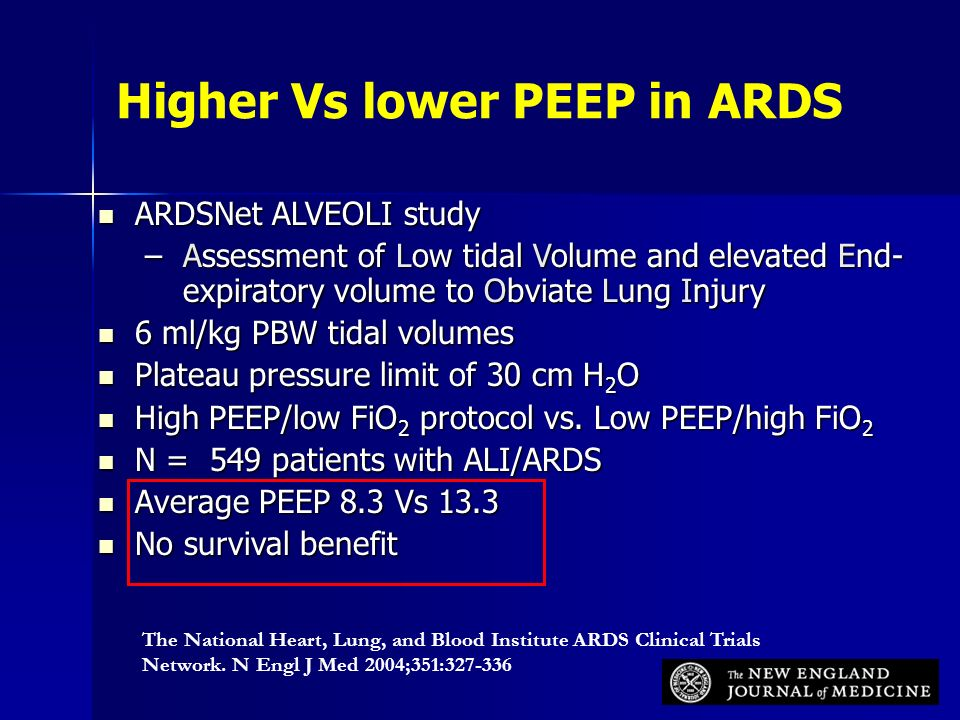 Mechanical ventilation in special situations-ARDS - ppt ...