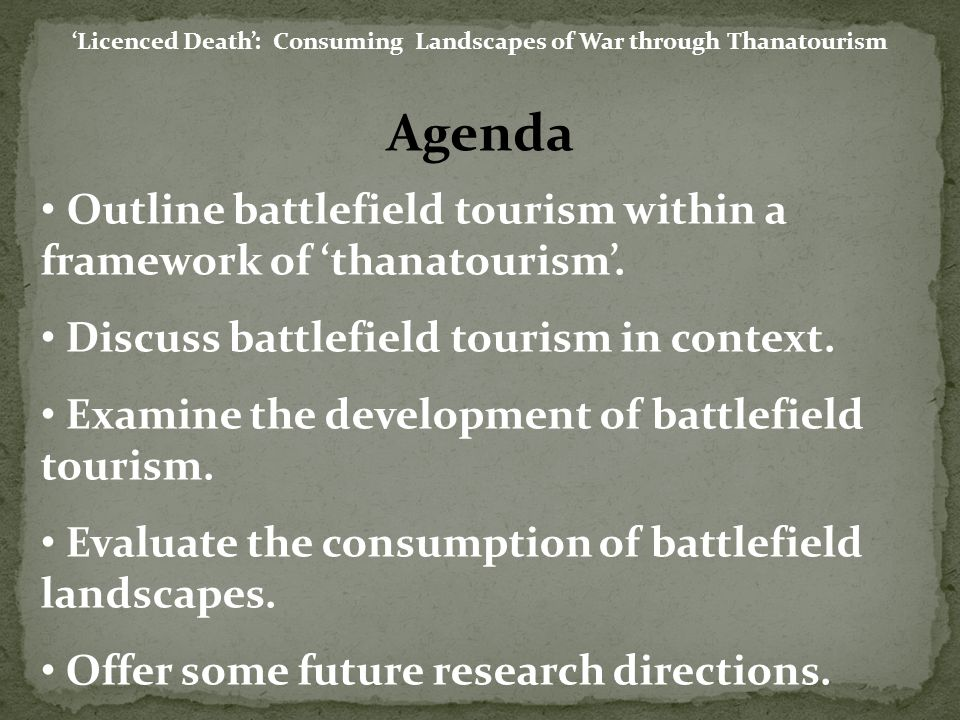 thanatourism dark tourism Dark tourism or thanatourism have too broad meaning and definition before the term of dark or thanatourism used, the other terms used such as horror tourism.