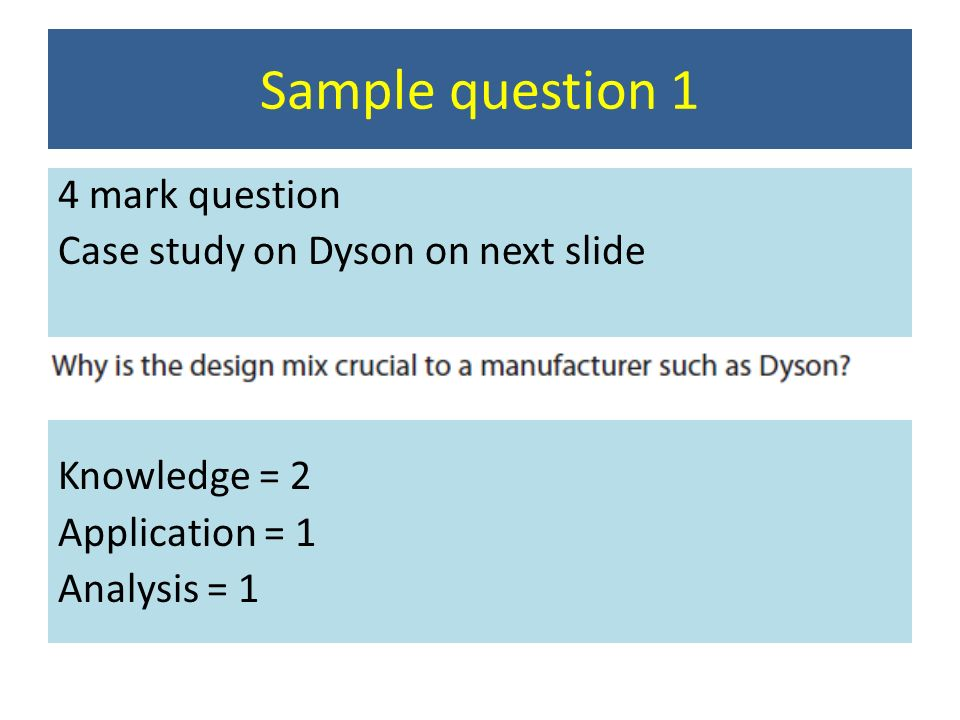 answers to dyson case study questions A case study on dyson business essay  free apa referencing tool free harvard referencing tool free vancouver referencing tool free study  we're here to answer .