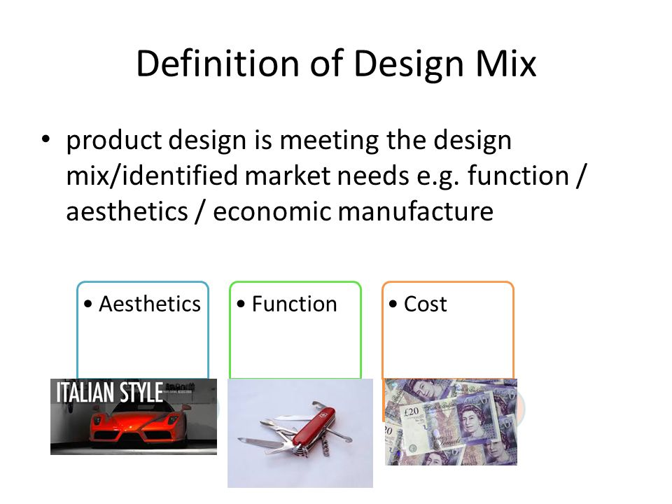 131 Product Service Design As Edexcel New Specification