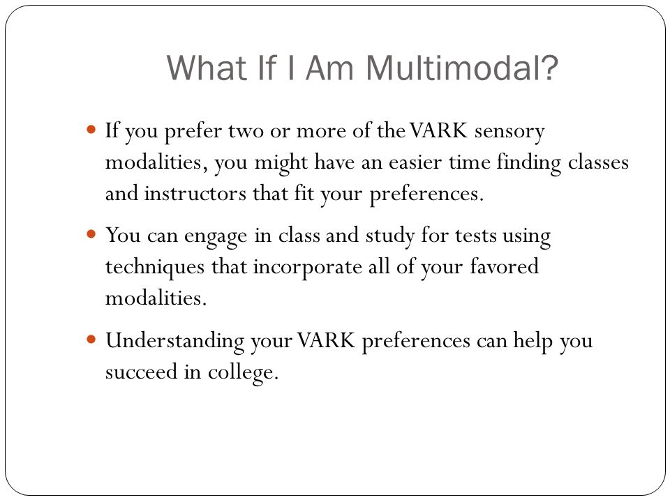 vark learning preference tool The vark model was originally developed as a tool to promote discussion  students and found evidence that vark learning preferences can change .