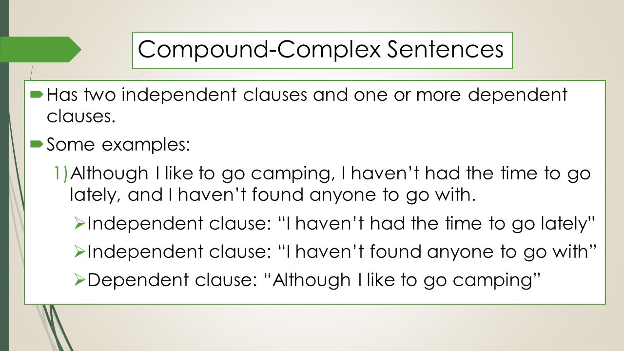 simple  complex   u0026 compound sentences