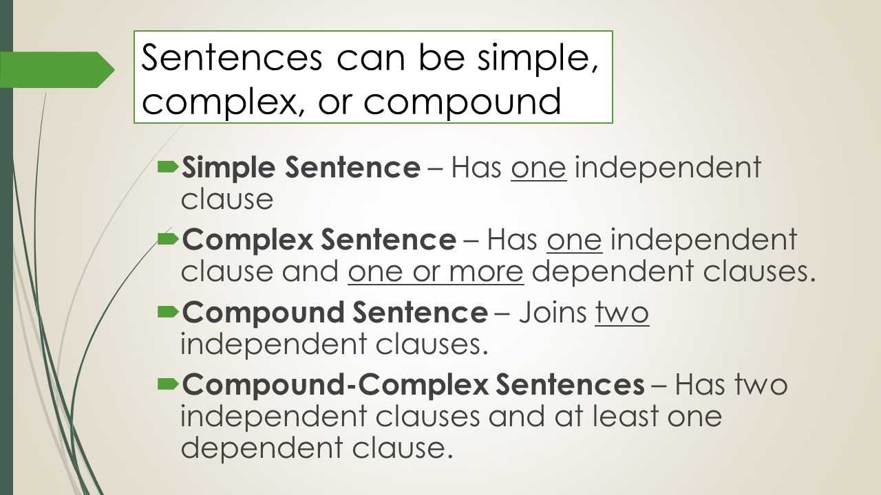 how to write complex sentences