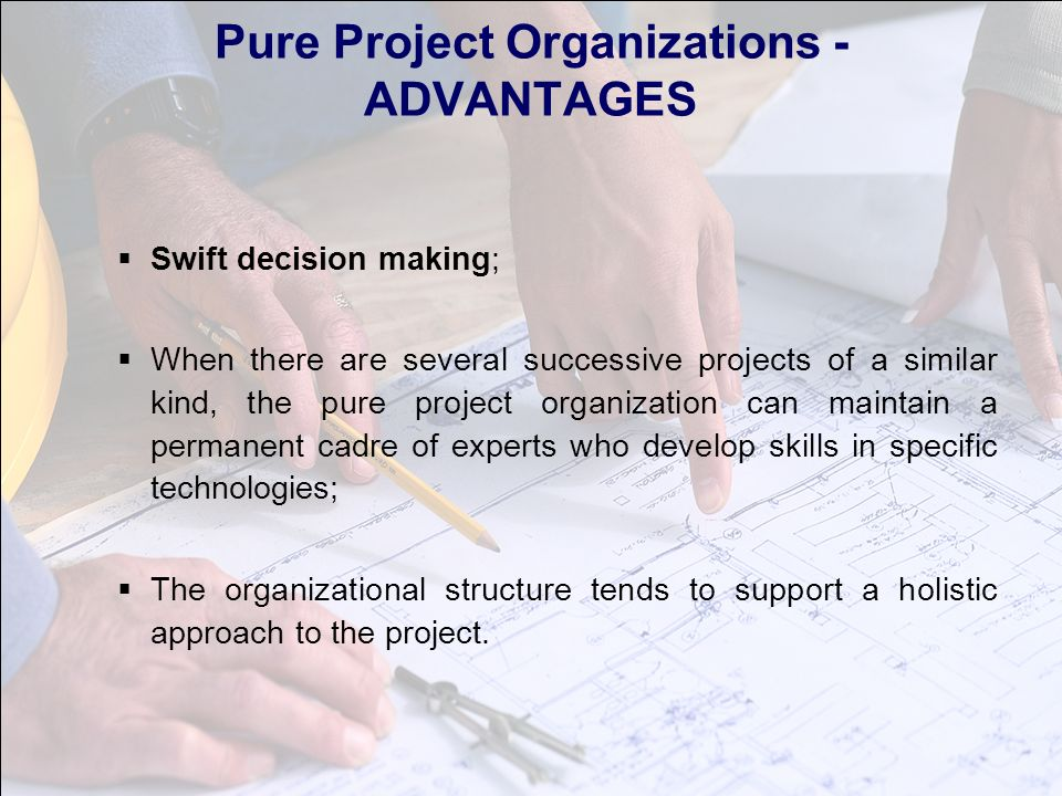 project organisation structure pros and cons Matrix organizational structures propose two management structures in single organization: a functional structure, which may be hierarchical and permanent and a project structure that lasts.