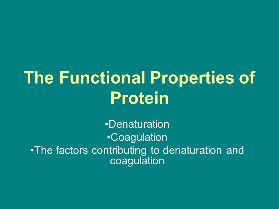 a research on the process of denaturation and coagulation Coagulation-flocculation processes in water the aim of this paper is to provide an overall description of coagulation-flocculation process several research.