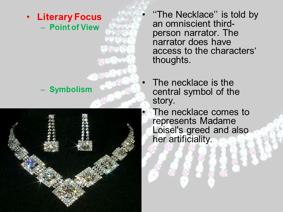 moral lesson of the story the necklace