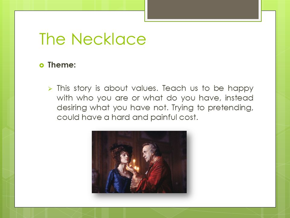 The necklace theme