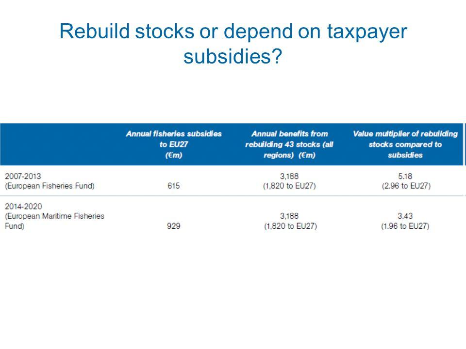 Rebuild stocks or depend on taxpayer subsidies