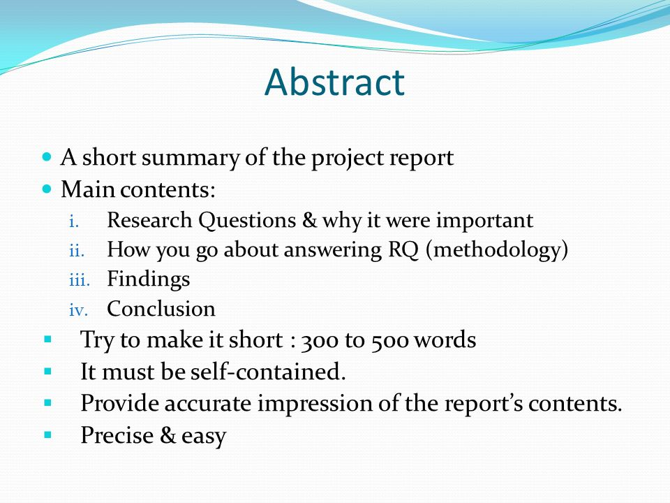 Writing your project report - ppt video online download