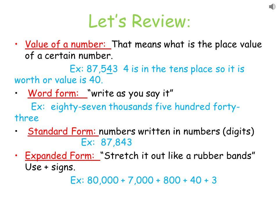 Understanding Numbers Ppt Download