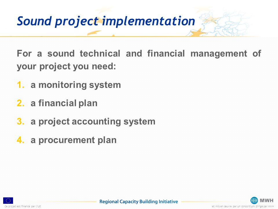 Sound project implementation