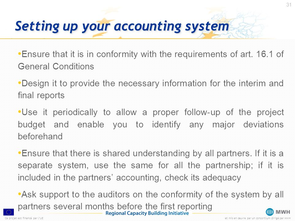 Setting up your accounting system