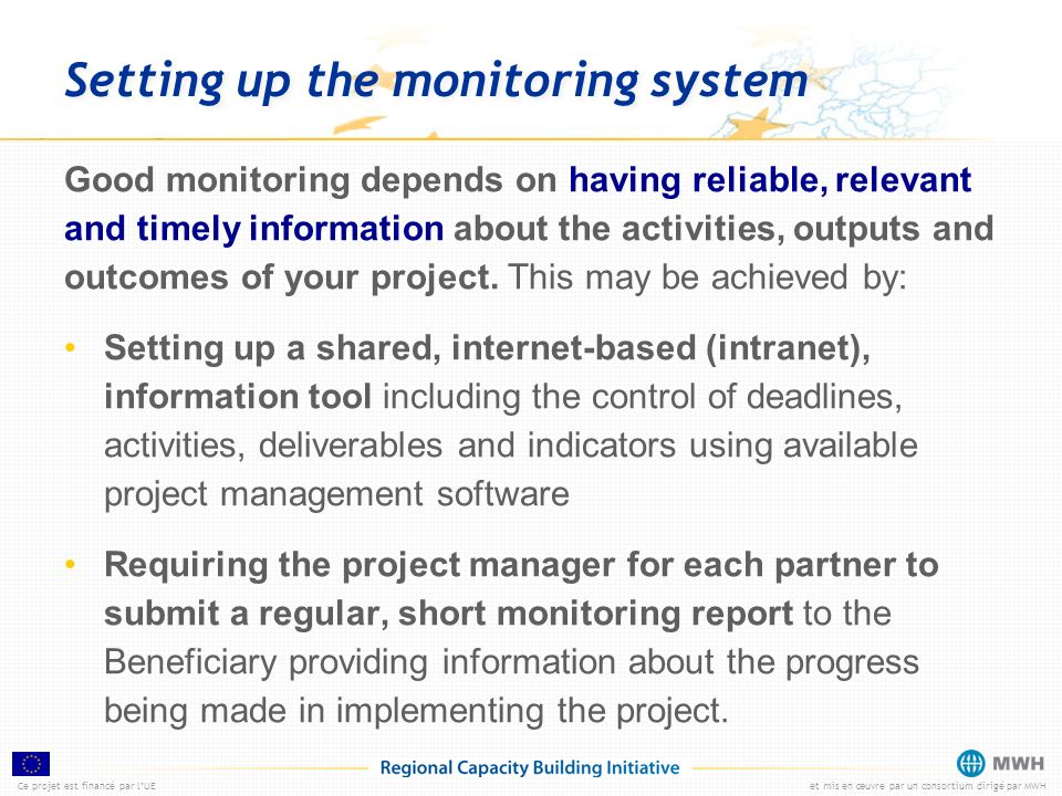 Setting up the monitoring system