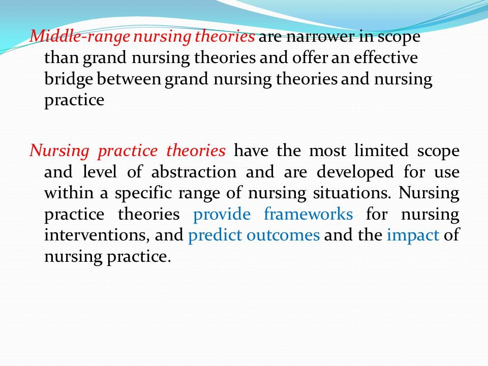 applying theory to practice problem nursing essay Application of theory in nursing process  health problem,  deductively looking for the compatibility of a general nursing theory with nursing practice.