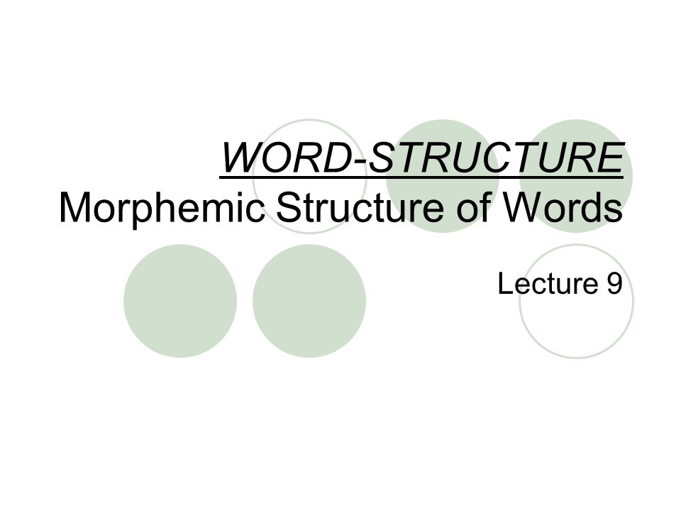how to find morphemes in a word