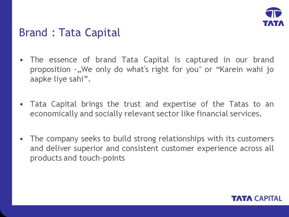 Tata capital forex limited & tc travel and services limited