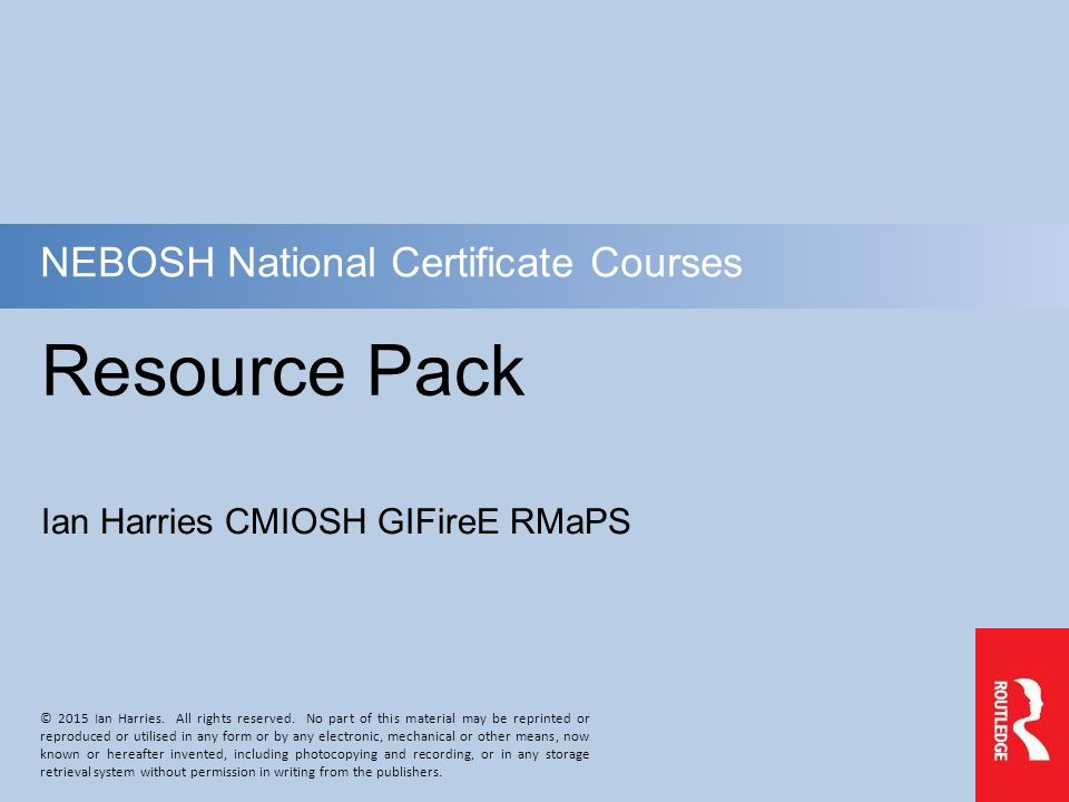 Resource Pack Nebosh National Certificate Courses Ppt Video Online