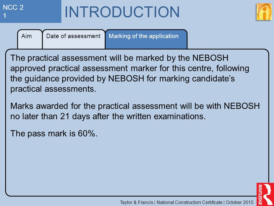 NCC 2 1 INTRODUCTION Aim Date Of Assessment Marking The Application
