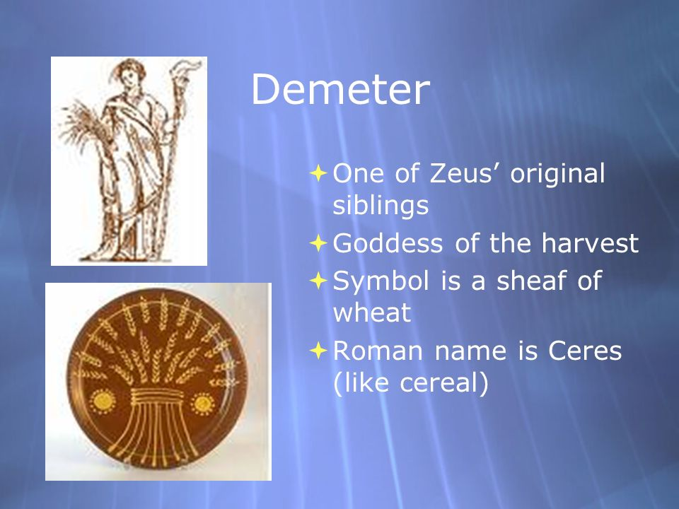 harvest of demeter god...