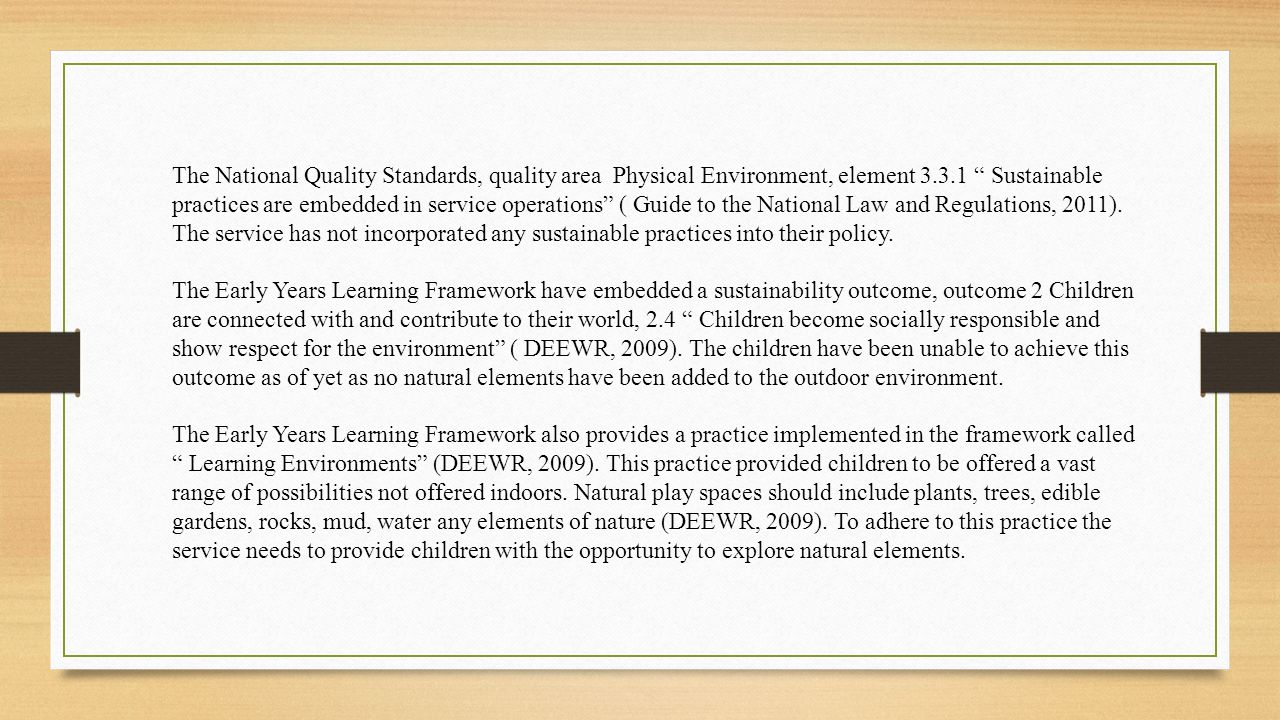 national quality standards 2011 pdf