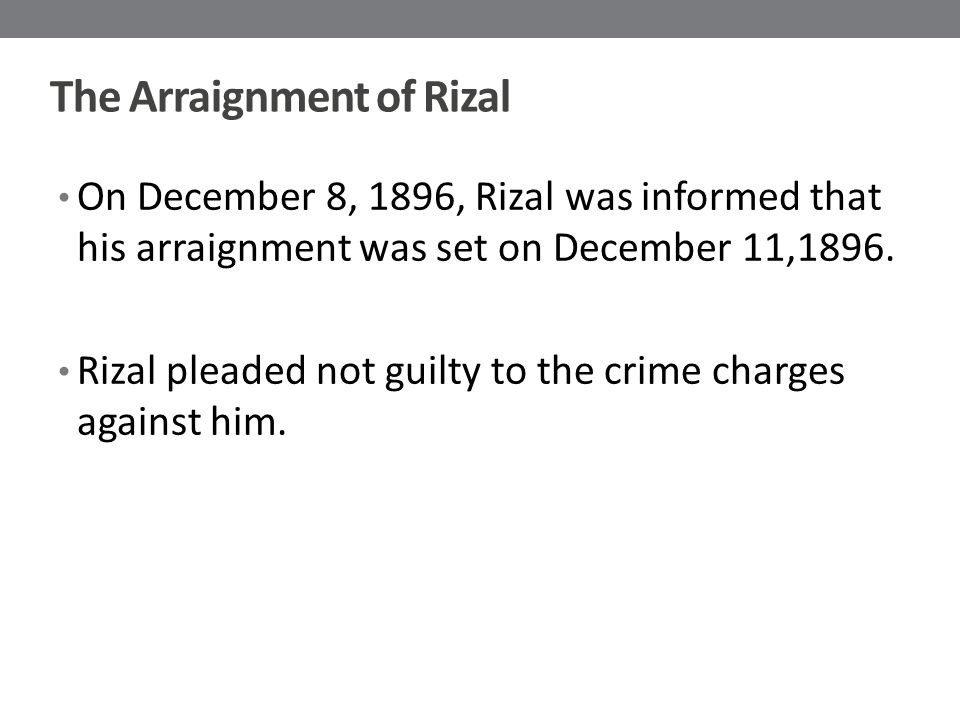 The Arraignment of Rizal