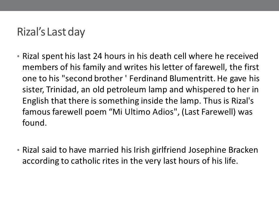Rizal's Last day