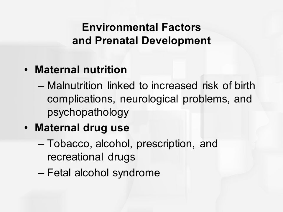 factors that negatively effect fetal development essay Read this essay on fetal alcohol syndrome what the symptoms are, and who and what make up the risk factors fetal alcohol syndrome can be better understood dr osaseri (family alcohol has a negative effect on anyone who consumes it but for females to drink during pregnancy.