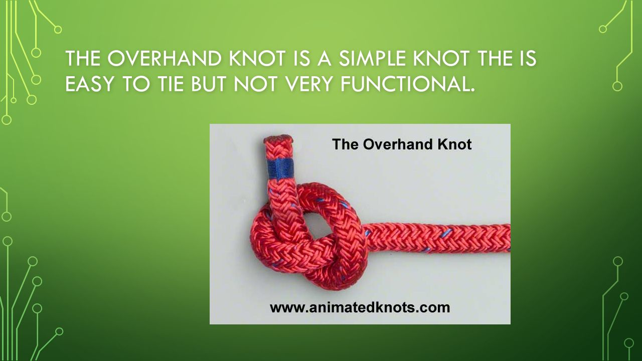 19 The Overhand Knot Is A Simple Knot The Is Easy To Tie But Not Very