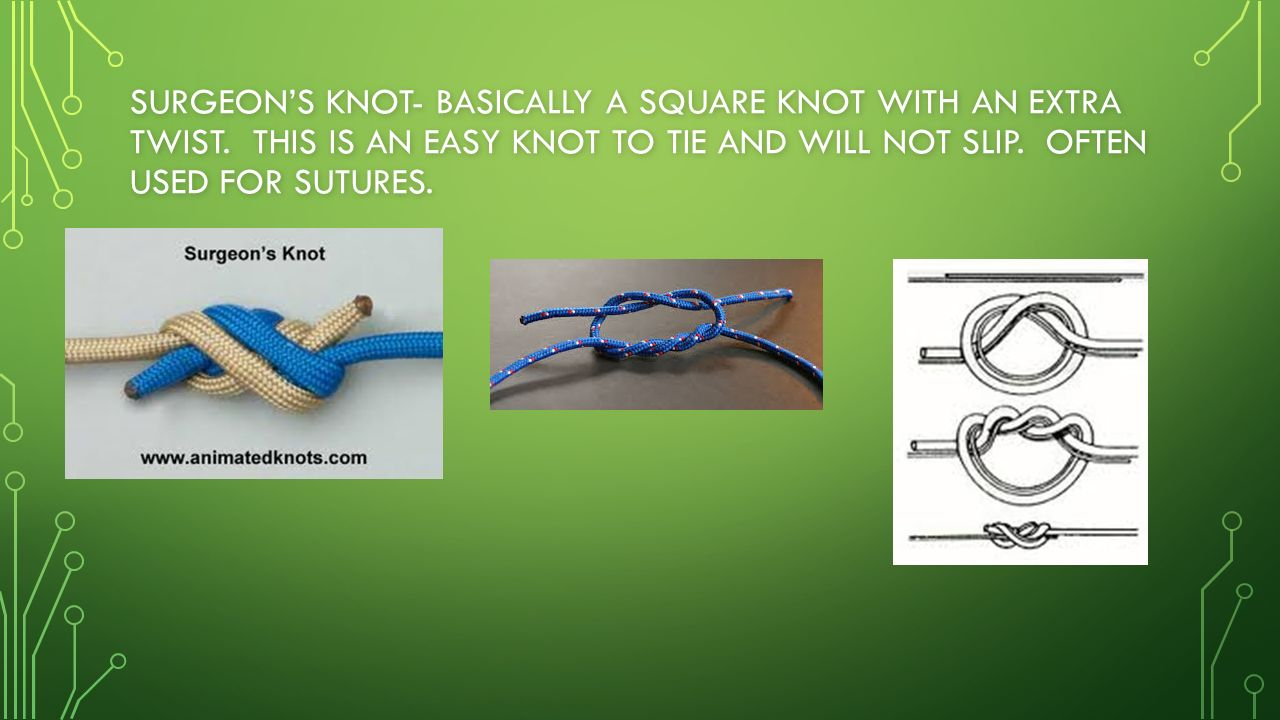 How To Tie The Innomiknot Quick Release Celtic Knot Bend Knots Tying  Surgeon's Knot Basically A