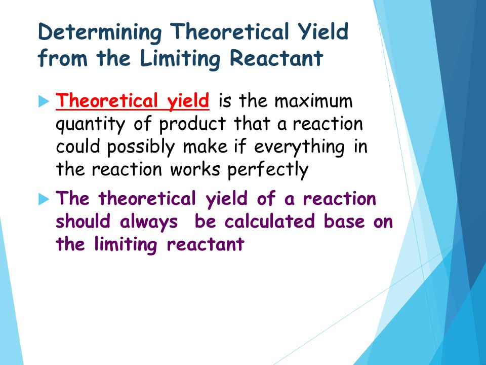 from your balanced equation what is the theoretical yield of your product Stoichiometry chemistry help (percentage yield)  your balanced equation exhibits you techniques do get the theoretical yield you have been given 280.