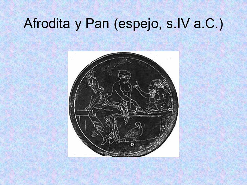 Afrodita y Pan (espejo, s.IV a.C.)