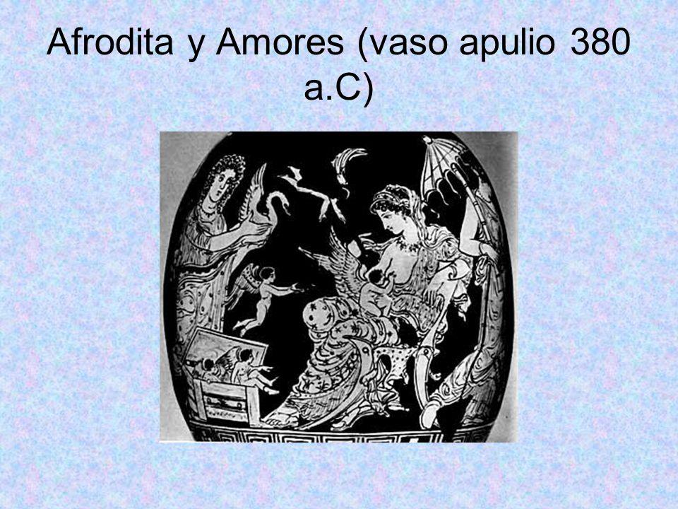 Afrodita y Amores (vaso apulio 380 a.C)