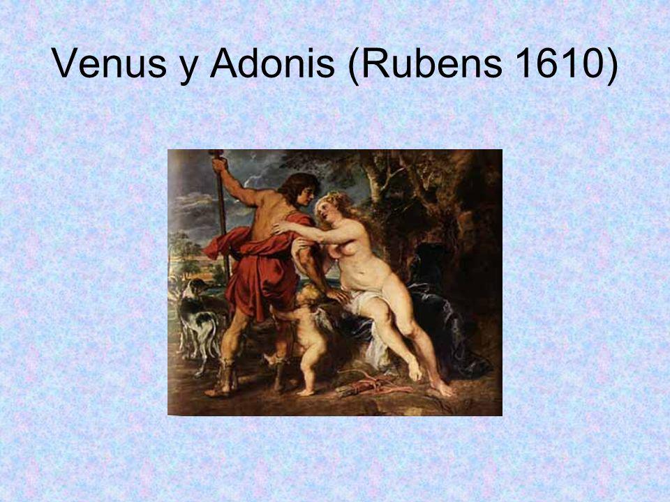 Venus y Adonis (Rubens 1610)