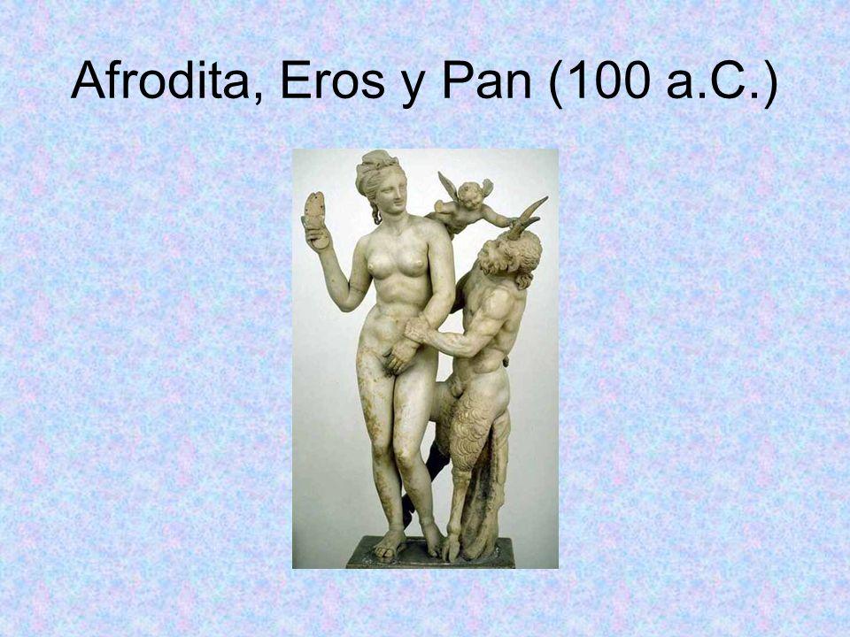 Afrodita, Eros y Pan (100 a.C.)