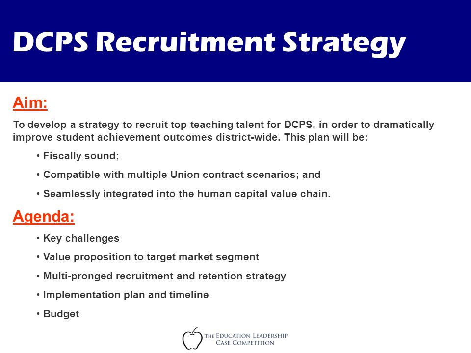 Dcps Recruitment Strategy  Ppt Video Online Download