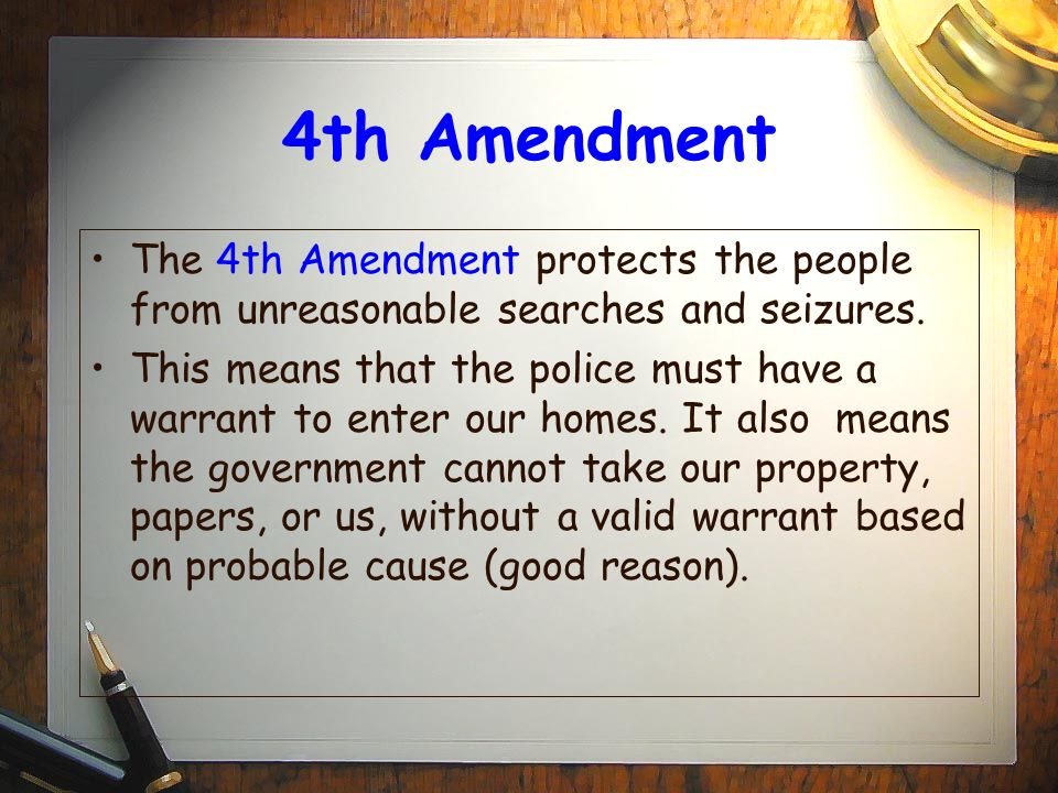 the constitutional rights and the search and seizure of a property