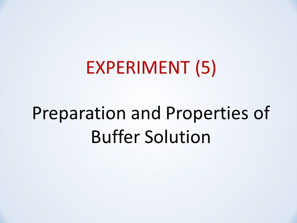 an analysis of the preparation of two buffer solutions Discover certipur® certified ready-to-use ph buffer solutions acc to ep and usp no preparation just open the pack for fast, exact ph calibration.