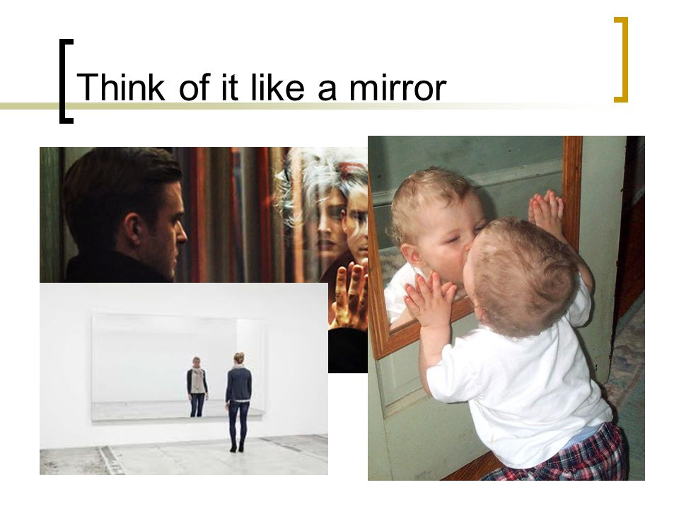 Think of it like a mirror