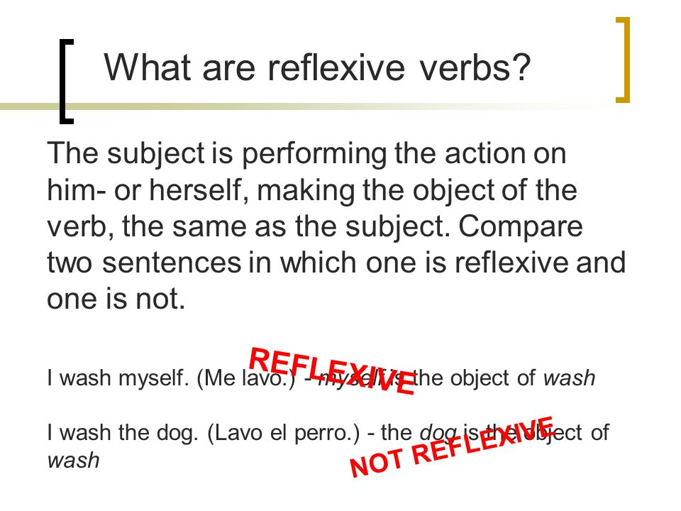 how to write a reflexive sentence in spanish